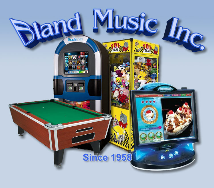 Touch Tunes Juke Boxes, Electronic Dart Boards, Video Games, Pool Tables, Bland Music, Ocala, Dunnellon, Inverness, Chiefland, Cedar Key, Williston, Yankeetown, Crystal River, Central Florida, Coin Operated Products